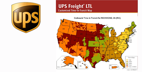 UPS Freight Map