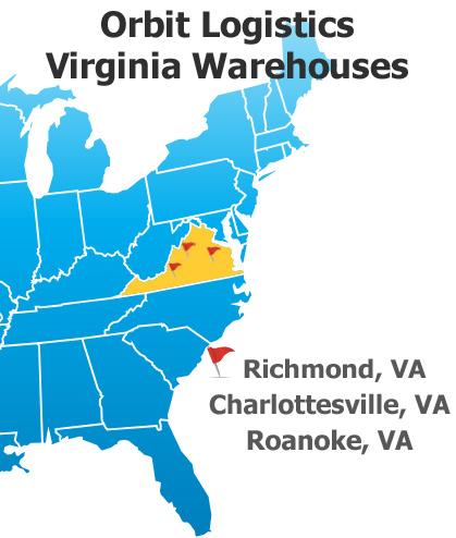 Orbit Logistics Virginia Warehouse Locations